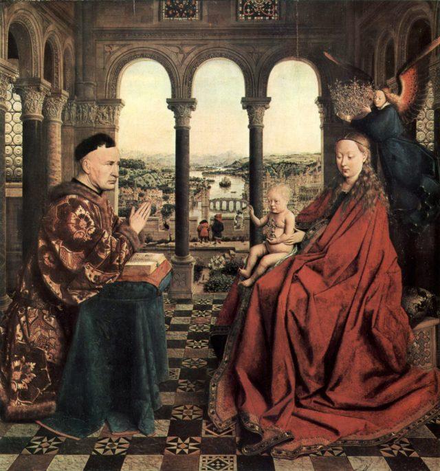 Jan Van Eyck la Vierge du Chancelier Rolin bourgogne burgundy beaune
